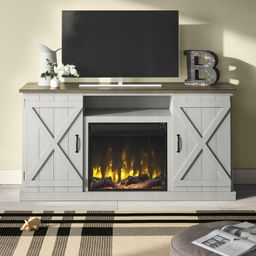 """Briella TV Stand for TVs up to 70"""" with Fireplace Included 