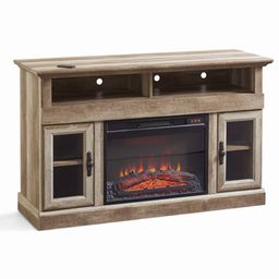"""Better Homes & Gardens Crossmill Fireplace Media Console for TVs up to 60"""", Weathered Finish 