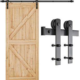 Amazon.com: SMARTSTANDARD 6.6ft Heavy Duty Sturdy Sliding Barn Door Hardware Kit -Smoothly and Qu... | Amazon (US)