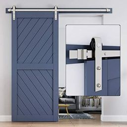Amazon.com: EaseLife 6 FT Heavy Duty Brushed Nickel Sliding Barn Door Hardware Track Kit,Modern,S... | Amazon (US)