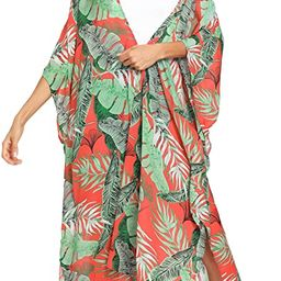 SweatyRocks Women's Flowy Kimono Cardigan Open Front Maxi Dress   Amazon (US)