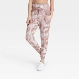"""Women's High-Rise Ribbed Jogger Pants 25.5"""" - All in Motion™ 