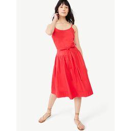 Free Assembly Women's Strappy Tiered Midi Dress   Walmart (US)