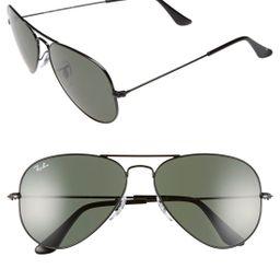 Ray-Ban Standard Original 58mm Aviator Sunglasses - Black | Nordstrom