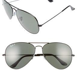 Men's Ray-Ban Icons 62mm Polarized Aviator Sunglasses - Black | Nordstrom