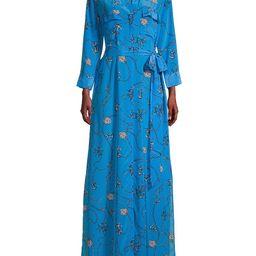 L'Agence Women's Cameron Nautical-Print Silk Maxi Shirtdress - Blue - Size S | Saks Fifth Avenue OFF 5TH