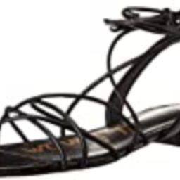 Sam Edelman Women's Tihana Flat Sandal, Black, 7.5 | Amazon (US)