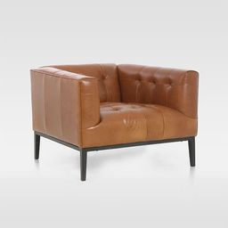 Iron Base Leather Chair | West Elm (US)