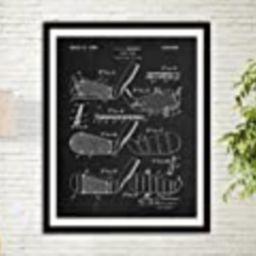 Golf Club Patent Art Print Golf Gifts For Men Office Decor Sports Wall Art Print Golf Club Wall Deco | Amazon (US)