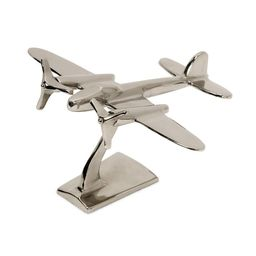 IMAX Up in the Air Plane Statuary, Silver | The Home Depot