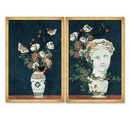 Oliver Gal Delicate Framed Art, Set of 2, Multi | West Elm (US)