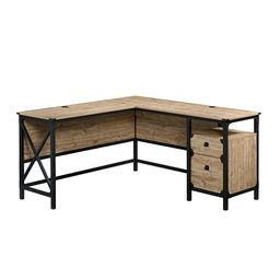 Sauder - Steel River L-Desk - Milled Mesquite | Best Buy U.S.