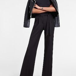 High Waisted Belted Twill Wide Leg Pant | Express