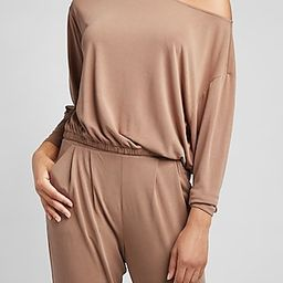 Silky Sueded Jersey Off The Shoulder Tee | Express