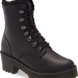 Leona Faux Fur Lined Block Heel Platform Boot | Nordstrom