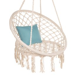 Best Choice Products Handwoven Cotton Macrame Hammock Hanging Chair Swing for Indoor & Outdoor Us...   Walmart (US)