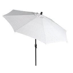 Better Homes & Gardens 9-foot Outdoor Market Patio Umbrella, White with Ticking Stripe - Walmart.... | Walmart (US)