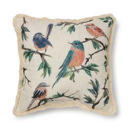 Mainstays Printed Bird Decorative Square Pillow, 18x18, Multi-color, Single count - Walmart.com | Walmart (US)