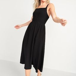 Smocked Fit & Flare Cami Midi Dress for Women | Old Navy (US)