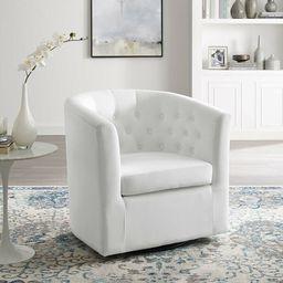 Achorn 30'' Wide Tufted Velvet Yes Barrel Chair | Wayfair North America