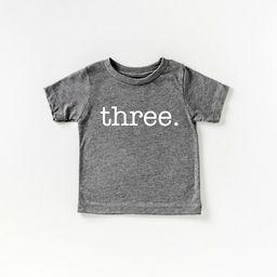 Three birthday shirt | Etsy (US)