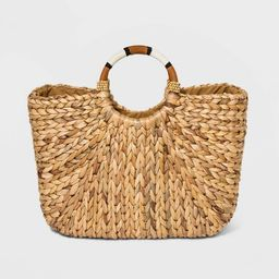 Straw Circle Handle Tote Handbag - A New Day™ Natural | Target