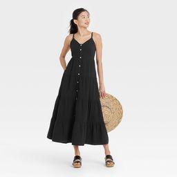 Women's Sleeveless Button-Front Tiered Dress - Universal Thread™   Target