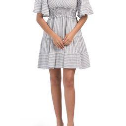 Yarn Dye Tiered Short Dress   Day Dresses   Marshalls   Marshalls