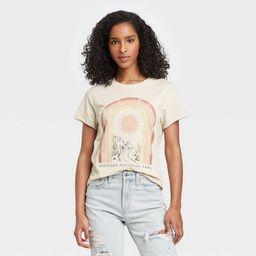 Women's Saguaro National Park Rainbow Short Sleeve Graphic T-Shirt - Light Beige   Target