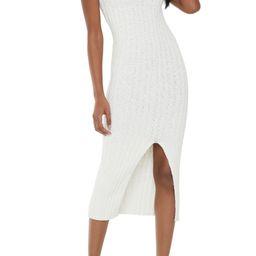 x Nordstrom Sleeveless Side Slit Ribbed Cotton Body-Con Dress   Nordstrom