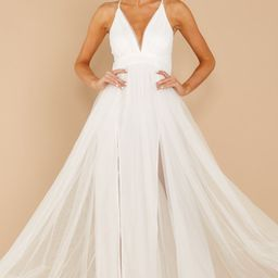 Matters Of The Heart White Maxi Dress   Red Dress
