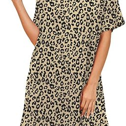 PrinStory Womens Nightshirts Short Sleeve Nightgown Soft Sleepwear Round Neck Casual Loungewear   Amazon (US)