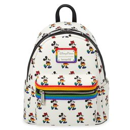 Mickey and Minnie Mouse Mini Loungefly Backpack – Rainbow Disney Collection | shopDisney