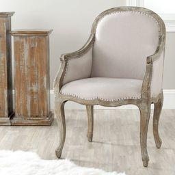 Fleur 25.2'' Wide Tufted Linen Armchair | Wayfair Professional