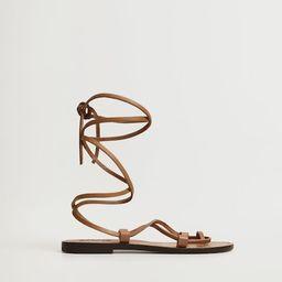 Leather straps sandals | MANGO (UK)
