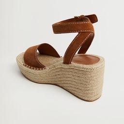 Leather wedge sandals | MANGO (UK)