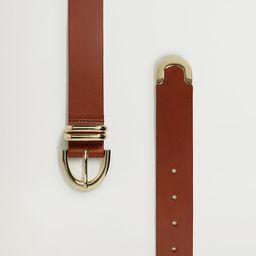Buckle leather belt | MANGO (UK)