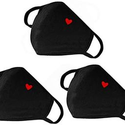 Fashion Cute Heart Face Protection with Adjustable Nose Bridge - Unisex Cloth Dustproof Mouth Pro... | Amazon (US)