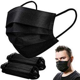 Black Mask,Disposable Face Mask of 100 pack Face Masks for Women Men | Amazon (US)