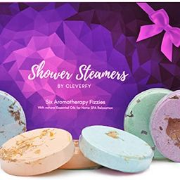 Cleverfy Aromatherapy Shower Steamers - Mothers Day Variety Pack of 6 Shower Bombs with Essential...   Amazon (US)