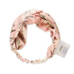 scunci Fashion Turban Headwrap - Pink Floral   Target