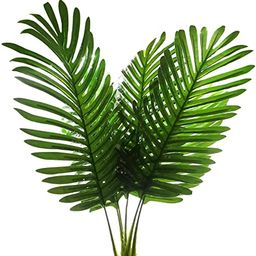 5 Pack Palm Artificial Plants Leaves Decorations Faux Large Tropical Palm Leaves Imitation Ferns ... | Amazon (US)
