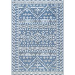 Zahara Blue Indoor / Outdoor Area Rug | Wayfair North America