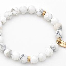 White Beaded Bracelet   Mint & Lily
