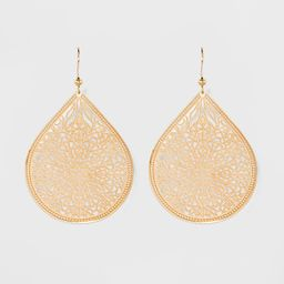 Women's Fashion Earring Filigree - A New Day™ Gold   Target