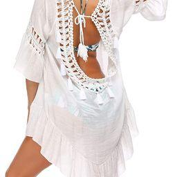 Ekouaer Bathing Suit Cover Up Women Swimsuit Dress Plus Size Sexy Bikini Beach Tunic Top Summer C... | Amazon (US)