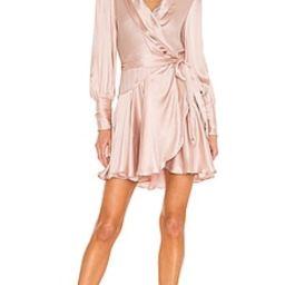 Zimmermann Silk Wrap Mini Dress in Petal from Revolve.com | Revolve Clothing (Global)