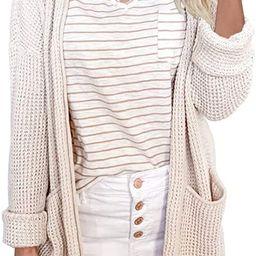 Ybenlow Womens Kimono Waffle Knit Cardigan Sweaters Long Sleeve Lightweight Loose Open Front Swea... | Amazon (US)