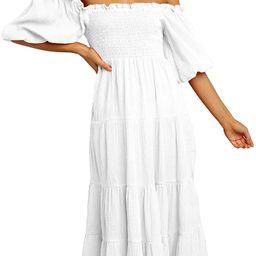 white midi dress | Amazon (US)