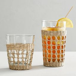 Cane Recycled Drinking Glasses   Pottery Barn (US)